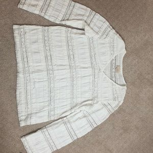 by TiMo Long Sleeves Lace Top, Size M
